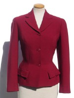 RED CREPE FITTED JACKET