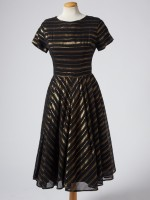 Black & gold stripe dress
