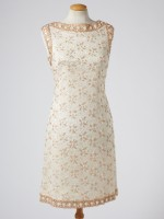 60's GOLD BEADED DRESS