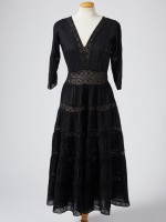 BLACK PIN-TUCK DRESS
