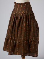 BROWN IKAT WRAP SKIRT