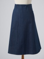 DENIM GAUDE SKIRT