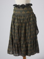 GREEN IKAT WRAP SKIRT