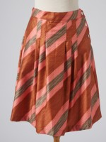 PINK AND GREY STRIPED SKIRT